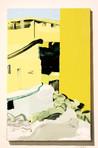 フォンダッツァ通りの中庭に入って Vai nel cortile di via Fondazza  acrylic on canvas 530×333mm