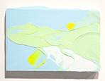 Land with Lake  acrylic on wood 190×270×20mm