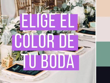 5 Claves para elegir el color dominante de tu boda