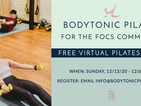 Free Virtual Pilates Class for the FOCS Community