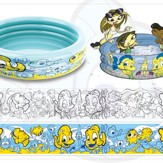 Kids Pool Giggle 'n Splash Graphics