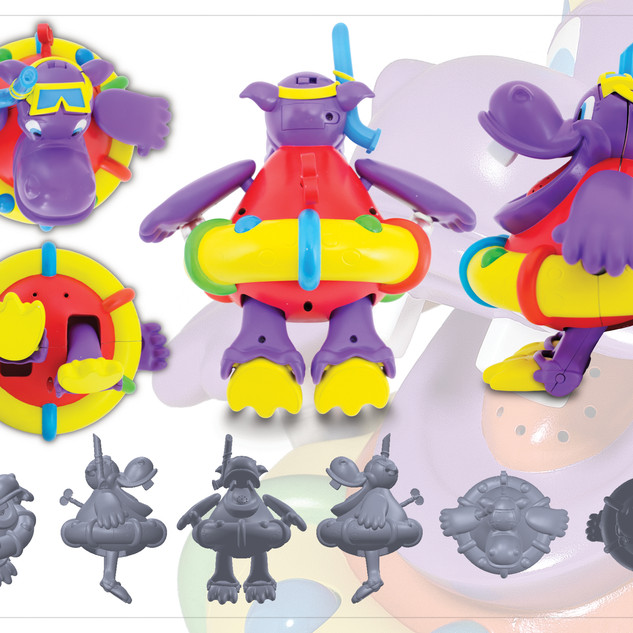 Scuba Hippo Bubble Maker Tubby Time