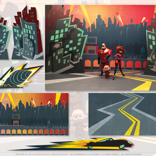 The Incredibles 2-Background Art