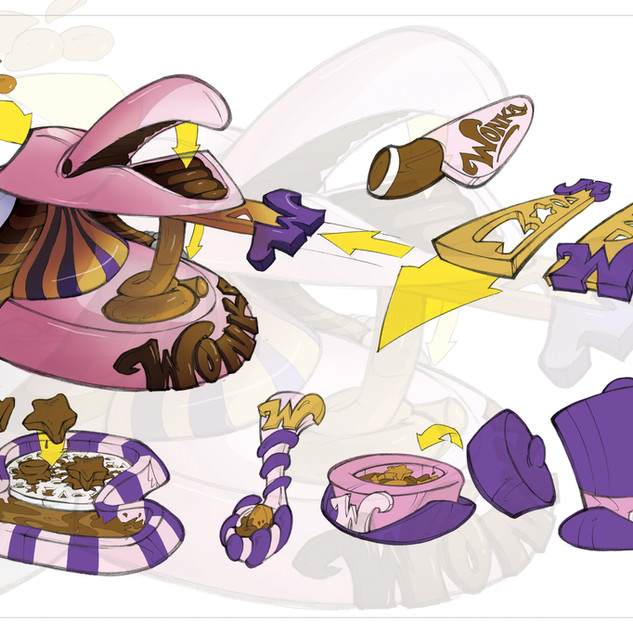 Willy Wonka Chocolate Dibs Concept