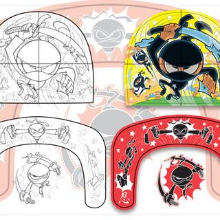 Ninja Master Slip 'N Slide Concept