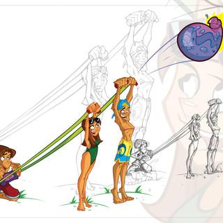 3-Person Sling Launcher Aqua Force