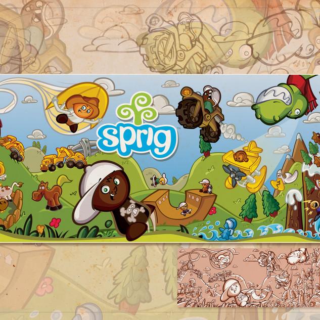 Sprig Toy Fair 2011 Banner Artwork