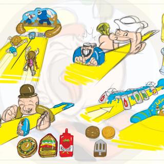 Popeye Slip 'N Slide Concepts
