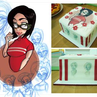Cake Girl Illustration