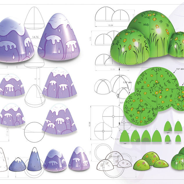 Monster Land Mountains