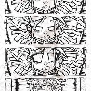 Demon Freddy pg.1 inks