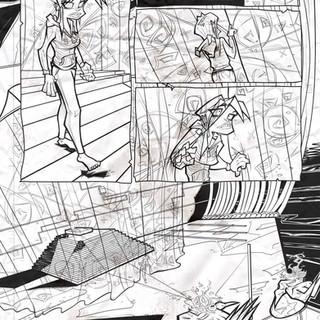 Demon Freddy pg.7 inks