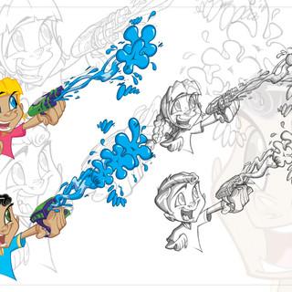Wrist Blaster Launcher Aqua Force