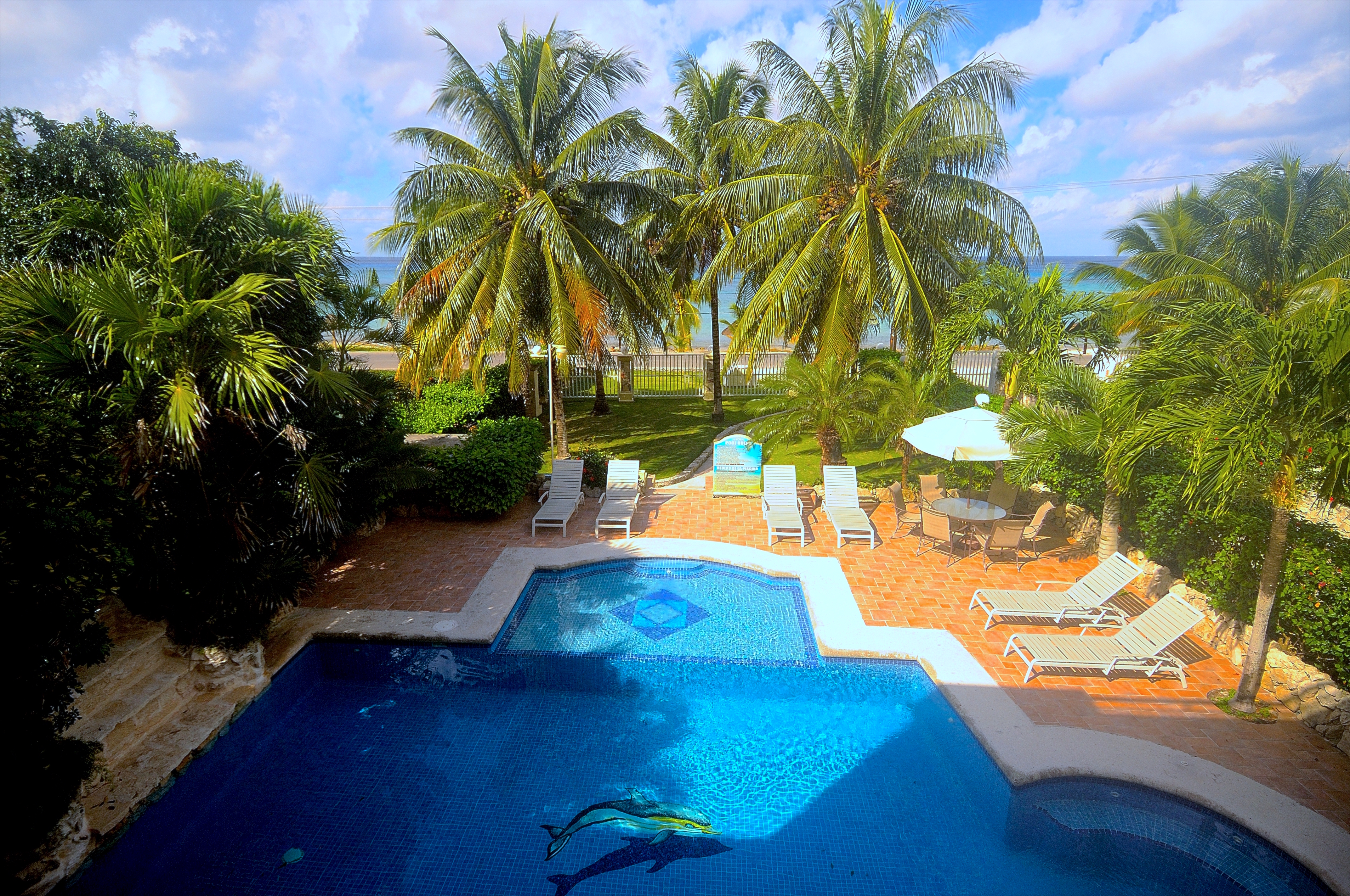 A piscina casa