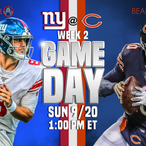 Week 2: Giants vs. Bears