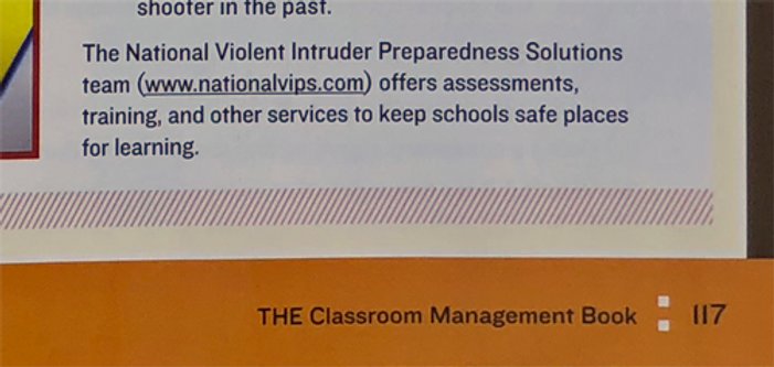The Classroom Management Book page cut o