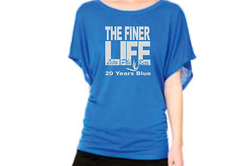 Z Blue Short Sleeve Flowy Shirt