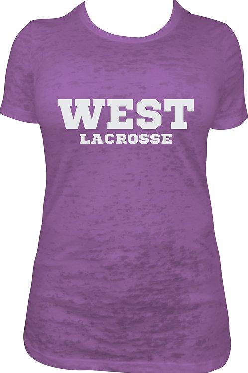 Purple heather crew neck t'shirt
