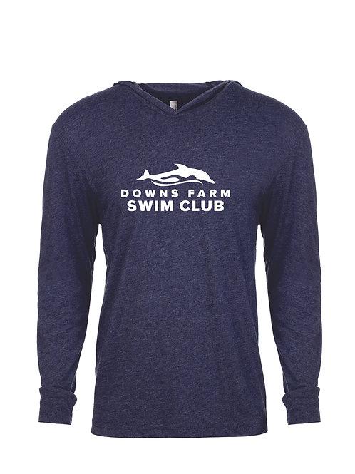 DF Next Level long sleeve hooded T'shirt