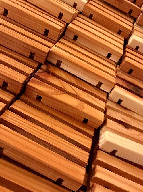"""Handmade Cedar Soap Deck (like a """"dish"""" but better)"""