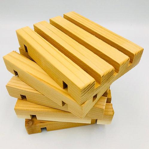 Handmade Cedar Soap Deck (keeps soap high & dry!)