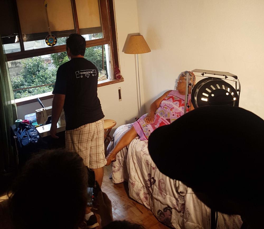 Yamas checando se da para passar com Mavic Mini na janela