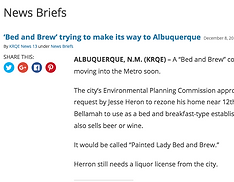 Painted Lady Bed & Brew making headlines.