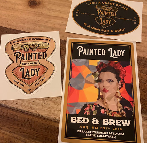 Painted Lady Stickers (3-Pack)