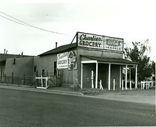 Painted Lady Bed & Brew historic photo. Charlie' Grocery.