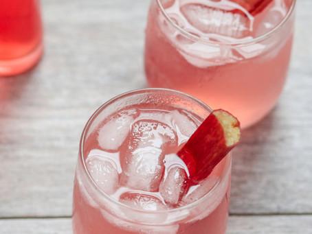Rhubarb and Fernet Sour
