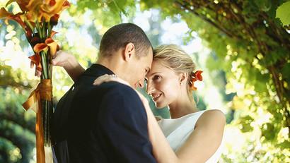 Couple on Wedding Day