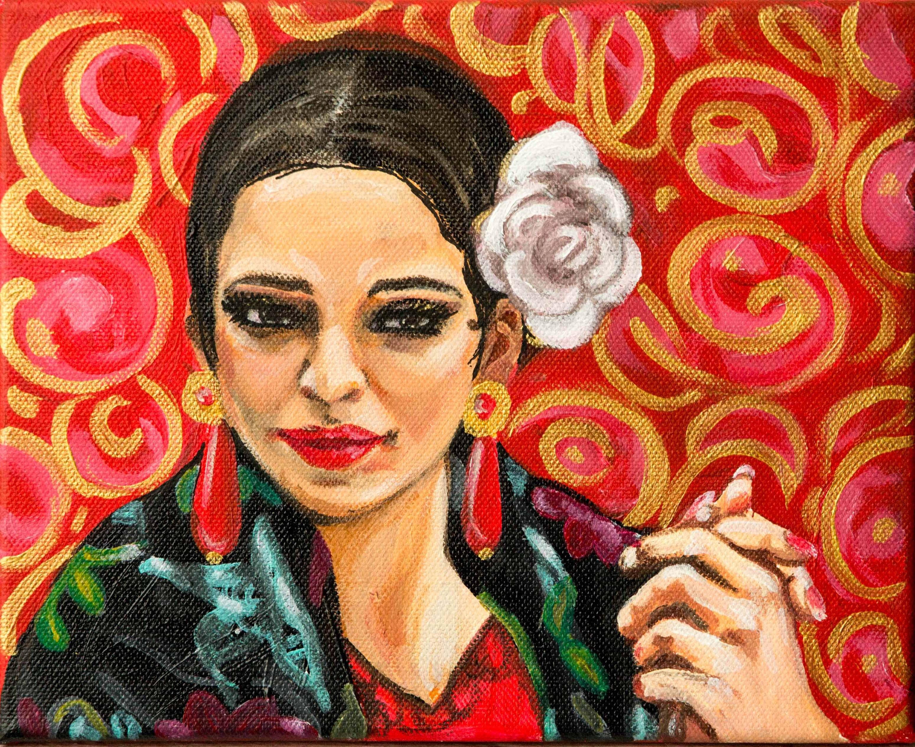 Flamenca-Acrílico sobre tela