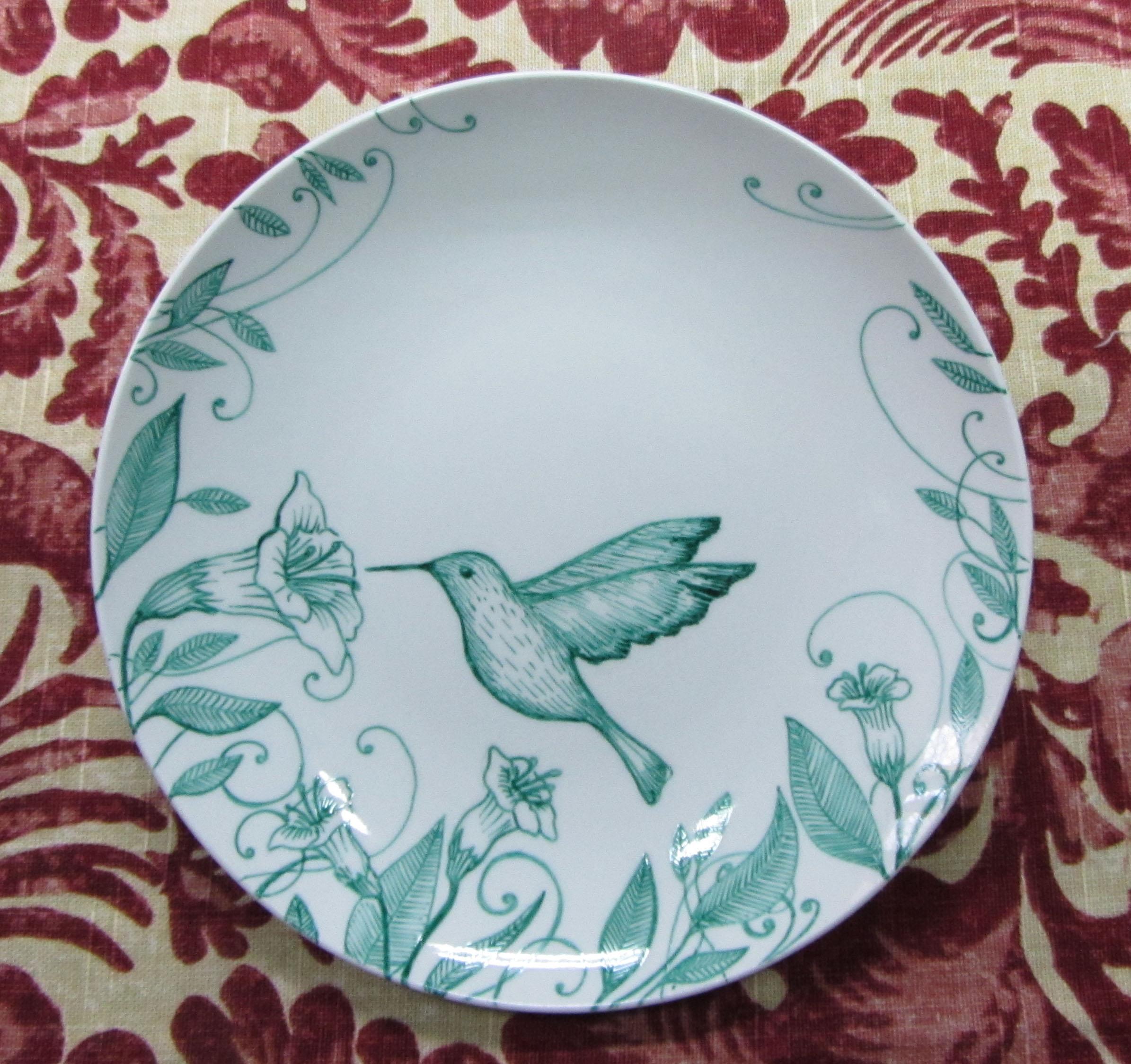 Plato colibrí