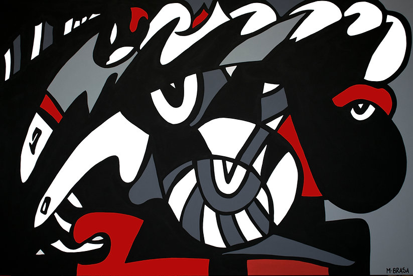 """The Wolf 48"""" x 72"""" $7,800"""