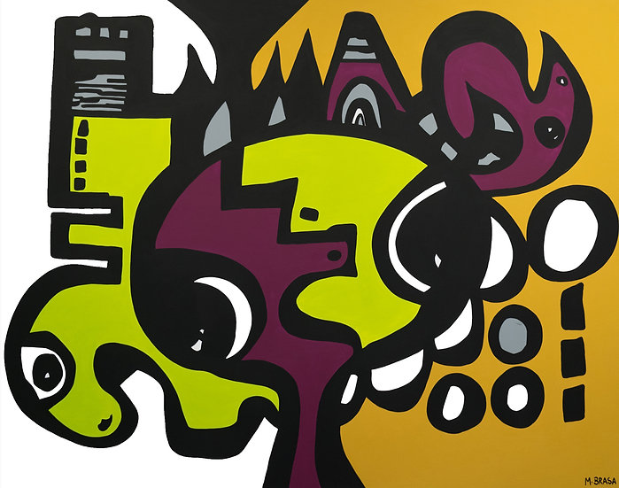 """New to the City 60"""" x 48"""" $5,200"""