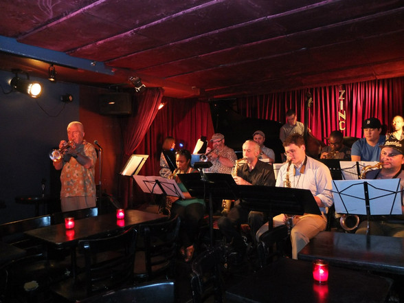 with Valery Ponomarev Big Band at Zinc Jazz Club, New York