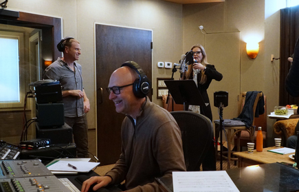 Recording session with Tierney Sutton (eng. Charley Pollard)