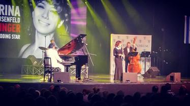 with Leonid Ptashka and Irina Rosenfeld, NY Jazz Festival