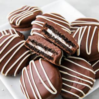 Chocolate Dipped GF Oreos