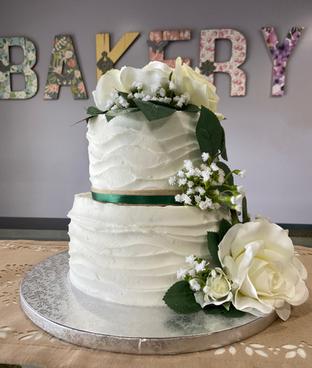 Wedding Cake w/Sage