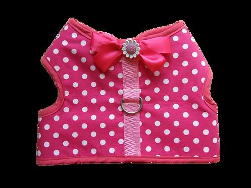 Harness 02 - Bow - Beautiful - Pink Polka - dot