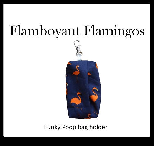 Poop bag holder - Flamboyant Flamingos