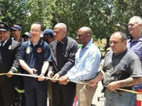 The relaunch of the Rhodes Park Junior Traffic Training Centre