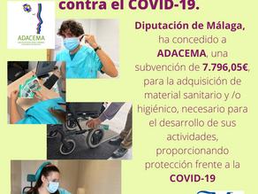 """Diputación de Málaga """"Tomando medidas """" ADACEMA contra el    COVID-19"""
