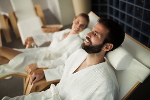 Picture of couple relaxing in spa center