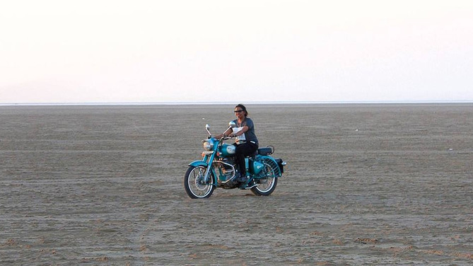 THE STORY OF HER UNDETERRED QUEST FOR LONG DISTANCE MOTORCYCLING..