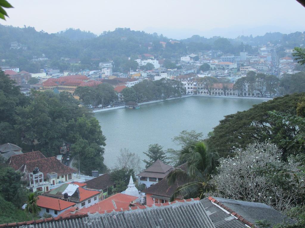 A view of Kandy Lake