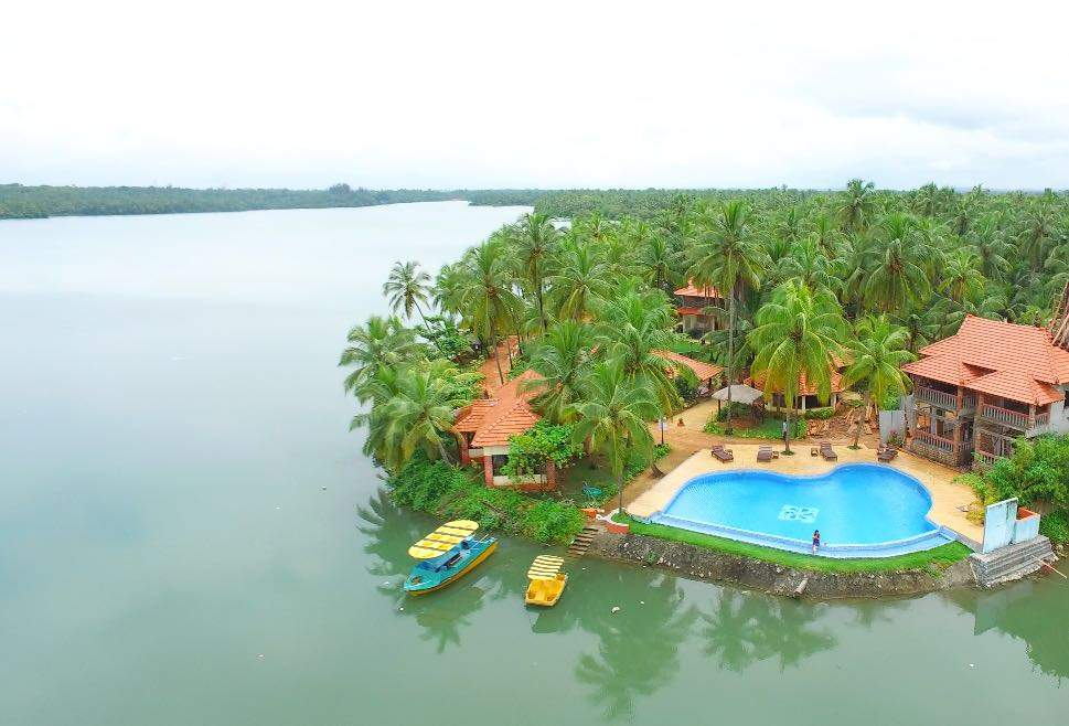 Resort overlooking the backwaters