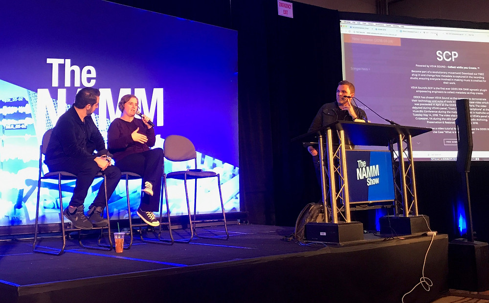 Metadata Panel with VEVAsound at NAMM 2019