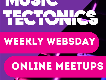 UPDATED for July! Weekly Websdays: Meet Up with Music Tech Leaders Every Wednesday